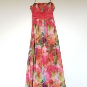 Eliza J. Multicolor Thin Shoulder Strap Maxi Dress